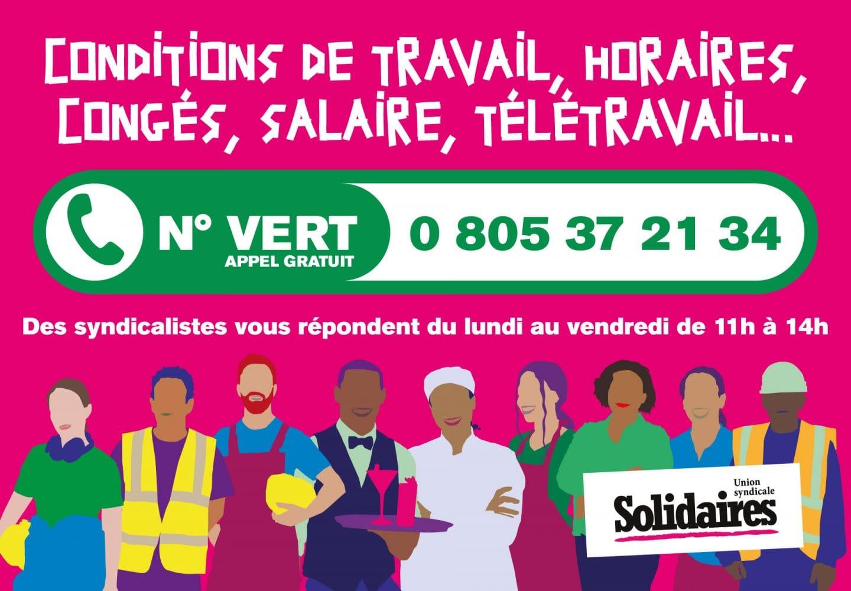 Numéro Vert Union Solidaire