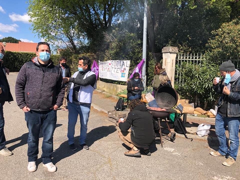 Piquet de grève IME la Barandone